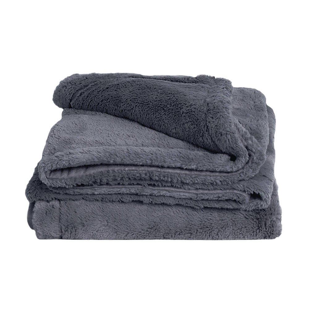 """Image of """"50"""""""" x 70"""""""" Viscose from Bamboo Plush Throw Blanket Blue Lagoon - Cariloha"""""""