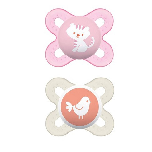 MAM Start Pacifier, 0+ Months - 2ct Pink/Purple - image 1 of 2