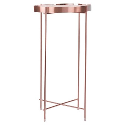 Ritz Tall Side Table - Rose Gold - urb SPACE