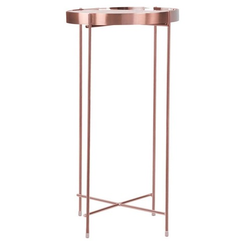 ritz tall side table rose gold urb space target. Black Bedroom Furniture Sets. Home Design Ideas