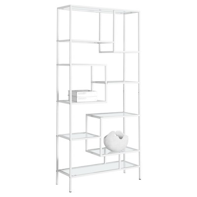 """Bookcase with Tempered Glass 70"""" - EveryRoom®"""