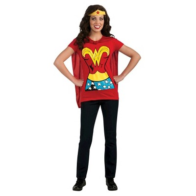OFFICIAL DC Comics Wonder Woman Classic Suit Red Ladies Womens T-Shirt Top NEW