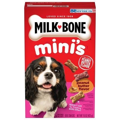 MilkBone Mini's Biscuits Peanut Butter Flavor Dog Treats - 15oz