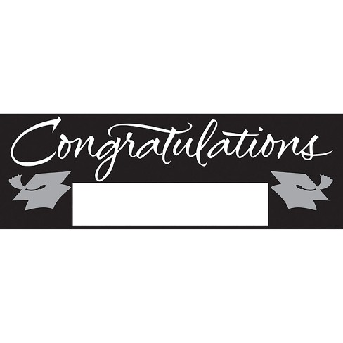 black congratulations graduation party banner target