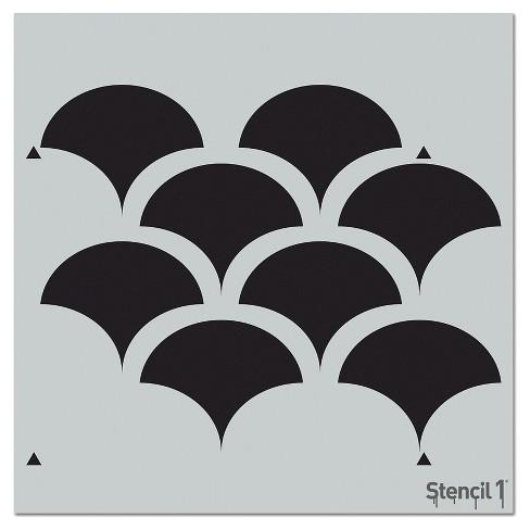 "Stencil1 Solid Scallop Repeating - Wall Stencil 11"" x 11"" - image 1 of 3"