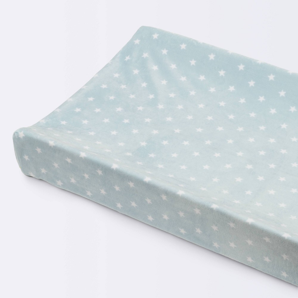 Plush Changing Pad Cover Stars Cloud Island 8482 Blue