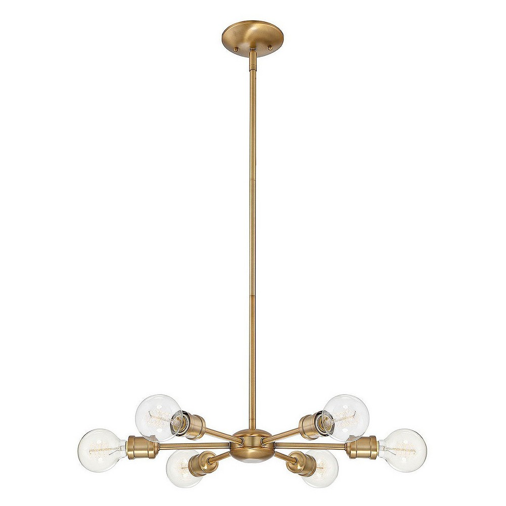 Image of Ceiling Lights Chandelier Natural Brass - Aurora Lighting