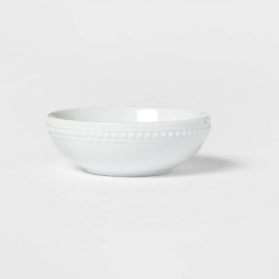 5oz Porcelain Beaded Dip Bowl White - Threshold™