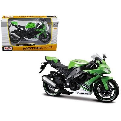 2010 Kawasaki Ninja ZX-10R Green 1/12 Diecast Motorcycle Model by Maisto
