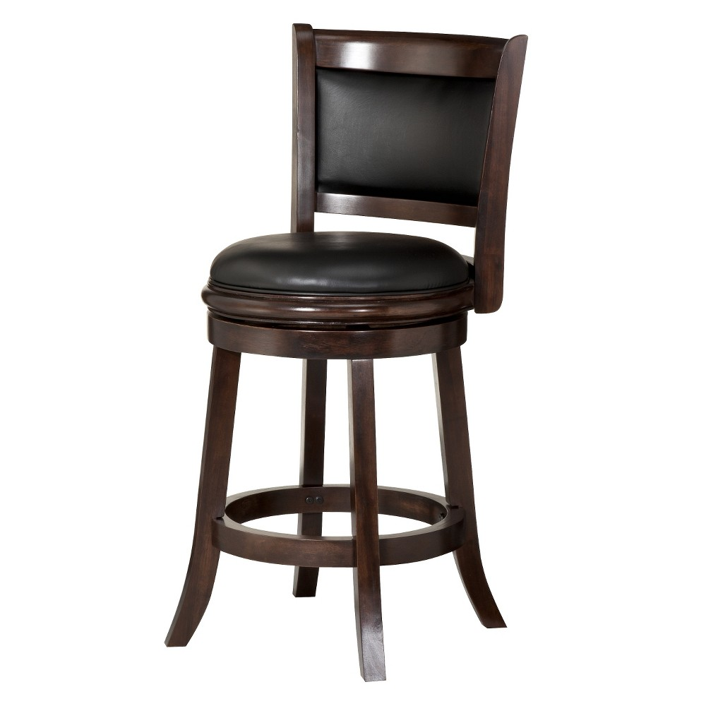 "Image of ""24"""" Augusta Swivel Counter Stool Hardwood Cappuccino - Boraam"""
