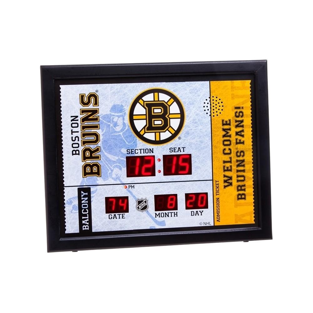 Boston Bruins Team Sports America Ticket Stub Bluetooth Scoreboard Wall Clock