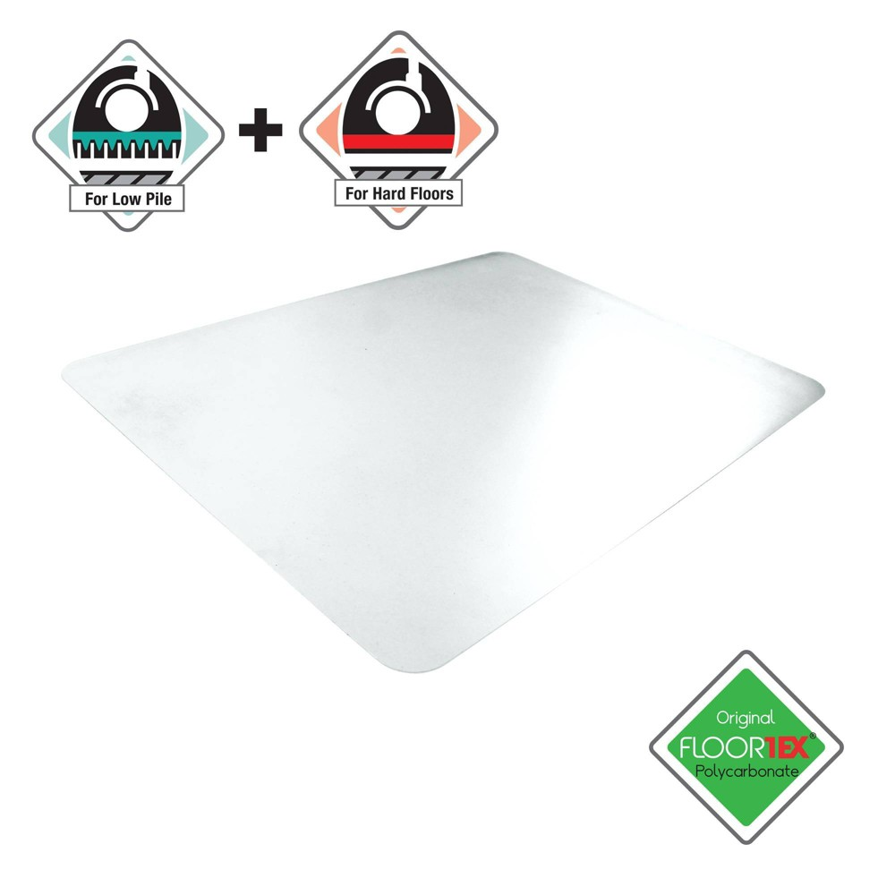 "Image of ""35""""x47"""" Rectangular Uno Mat Anti-Slip Chair Mat For Polished Hard Floors Carpet Tiles - Cleartex"""