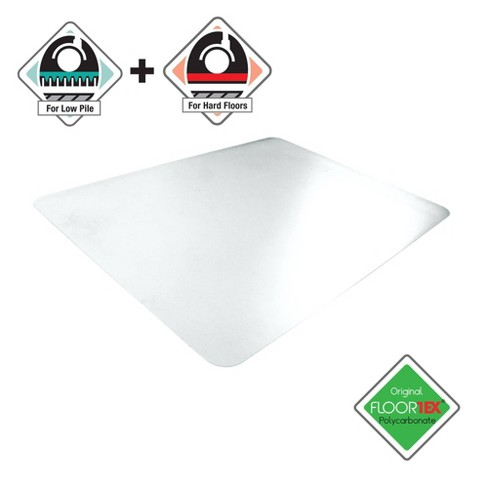"48""x53"" Rectangular Anti-Slip Uno Mat For Polished Hard Floors Carpet Tiles - Cleartex - image 1 of 4"