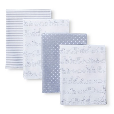 Circo™ 4pk Flannel Receiving Blankets - Two by Two