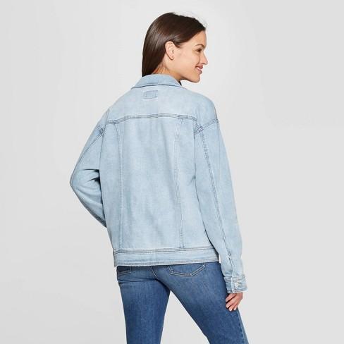 66a579812d Women's Long Sleeve Denim Trucker Jeans Jacket - Universal Thread™ Light  Blue XXL
