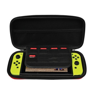 Ematic Nintendo Switch Travel Carrying Case with 8-Game Cart Slots and Screen Protector