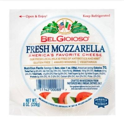 Belgioioso Fresh Mozzarella All-Natural Cheese - 8oz