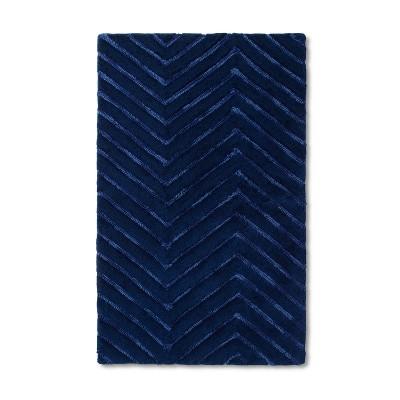 30 x48  Chevron Accent Rug Navy Blue - Pillowfort™