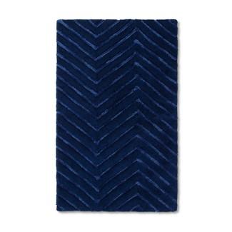 "30""x48"" Chevron Accent Rug Navy Blue - Pillowfort™"