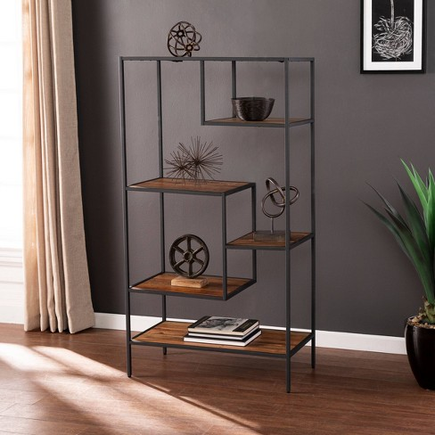 "58.75"" Thropel Reclaimed Wood Etagere Natural/Gray - Aiden Lane - image 1 of 4"