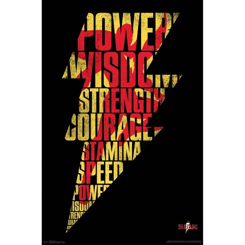 "34""x23"" Shazam Bolt Unframed Wall Poster Print - Trends International - image 1 of 2"