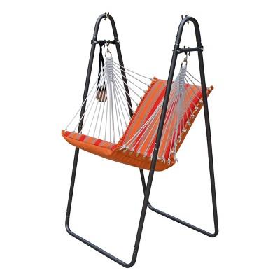 Soft Comfort Swing Chair & Stand with Sunbrella - Orange - Algoma