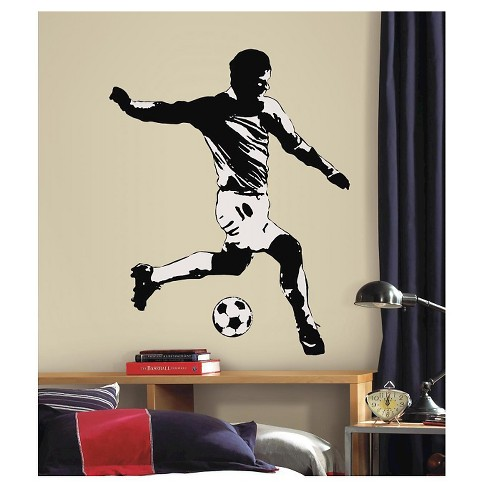 RoomMates Soccer Player Peel & Stick Giant Wall Decals - image 1 of 1