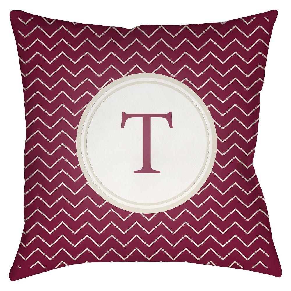 Maroon (Red) Tau Maroon Throw Pillow 18