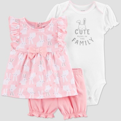 Baby Girls' Bunny Top & Bottom Set - Just One You® made by carter's Pink 9M