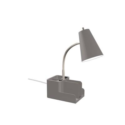 Organizer Task Lamp with Color Update Dark Gray - Room Essentials™