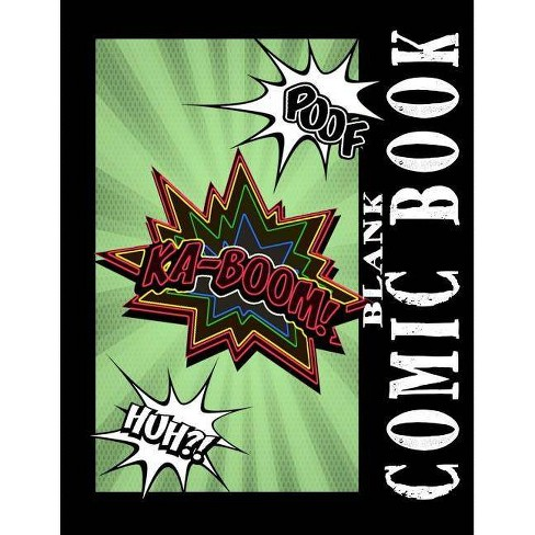 Blank Comic Books - (Blank Comic Book Collection Lg) by Be Inspired Blank  Comic Books (Paperback)
