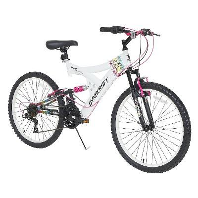 Dynacraft Women's Rip Curl 24  Mountain Bike - White