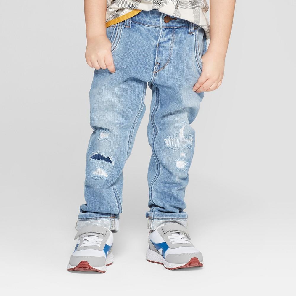 Genuine Kids from OshKosh Toddler Boys' Skinny Destructed Jeans - Light Blue 2T