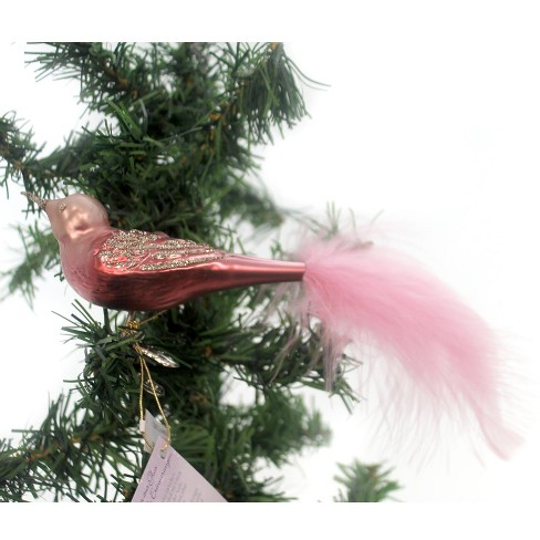Inge Glas Romantic Bird Clip-On Ornament Feathers - image 1 of 2