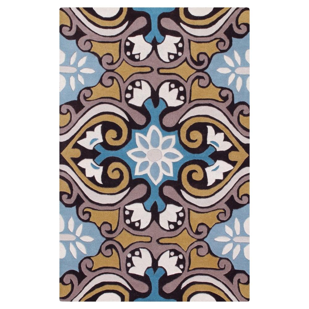 Ever Area Rug - Blue/Brown (6'x9') - Safavieh