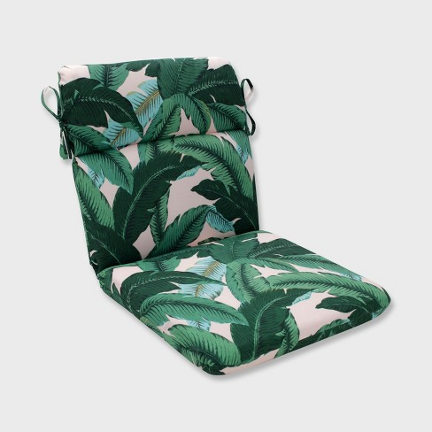 Swaying Palms Rounded Corners Outdoor Chair Cushion Capri Blue - Pillow Perfect - image 1 of 1