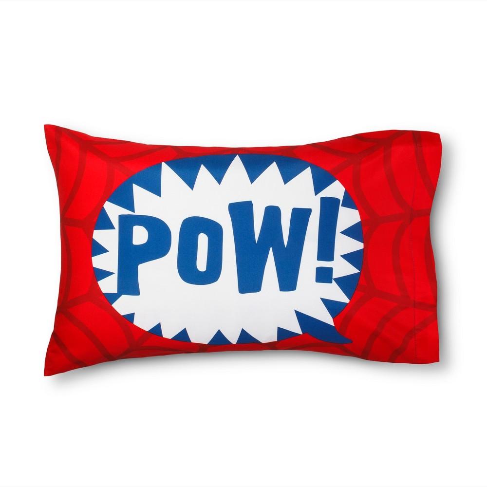 Spider-Man Pow Red Pillowcase (Standard)