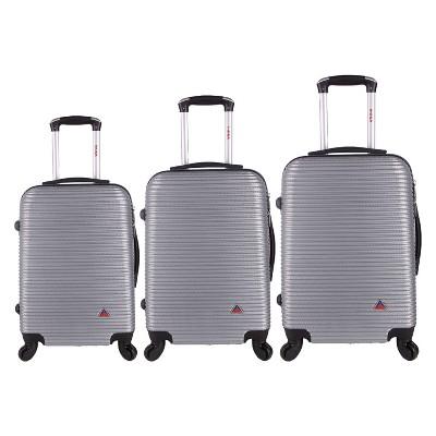 InUSA Royal 3pc Lightweight Hardside Spinner Luggage Set