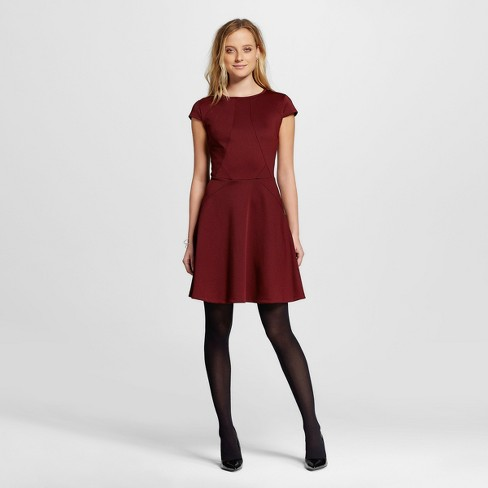Women's Fit and Flare Dress with Cap Sleeves - Mossimo™ - image 1 of 2