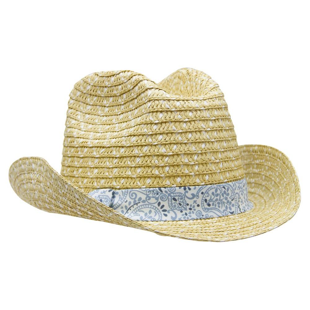 Newborn Boys' Cowboy Hat - Natural 12-24 Months, Size: 12-24M, White