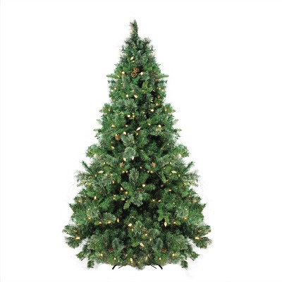 Northlight 7.5' Prelit Artificial Christmas Tree Mixed Cashmere Pine - Warm White LED Lights