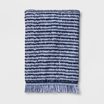 Textured Stripe Hand Towels Blue - Project 62™