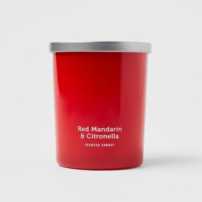 13oz Jar 2-Wick Americana Citronella Red Mandarin Candle - Sun Squad™