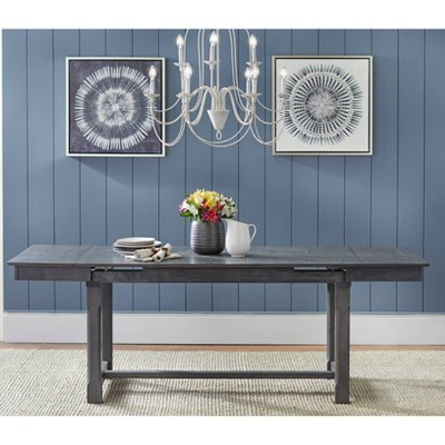 Riga Extendable Dining Table Gray - Buylateral