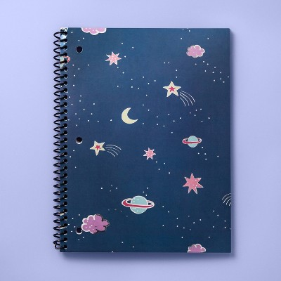 Space Spiral Subject Notebook   More Than Magic   Navy Blue by More Than Magic