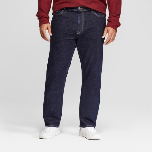 Men's Tall Athletic Fit Relaxed Jeans - Goodfellow & Co™ Rinse Wash 42x36 - image 1 of 3