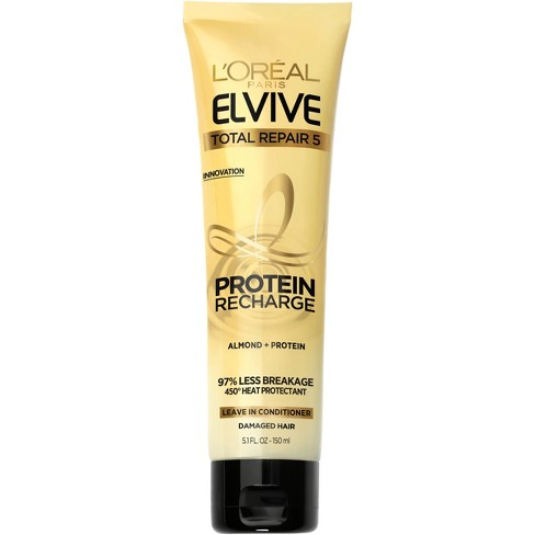 L'Oreal Paris Elvive Total Repair 5 Protein Recharge Leave In Conditioner - 5.1 fl oz - image 1 of 6