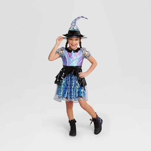 Kids Purple Iridescent Witch Halloween Costume Dress With Hat Hyde Eek Boutique Target