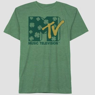 Men's MTV Clover Shot Sleeve Graphic Crewneck T-Shirt - Green