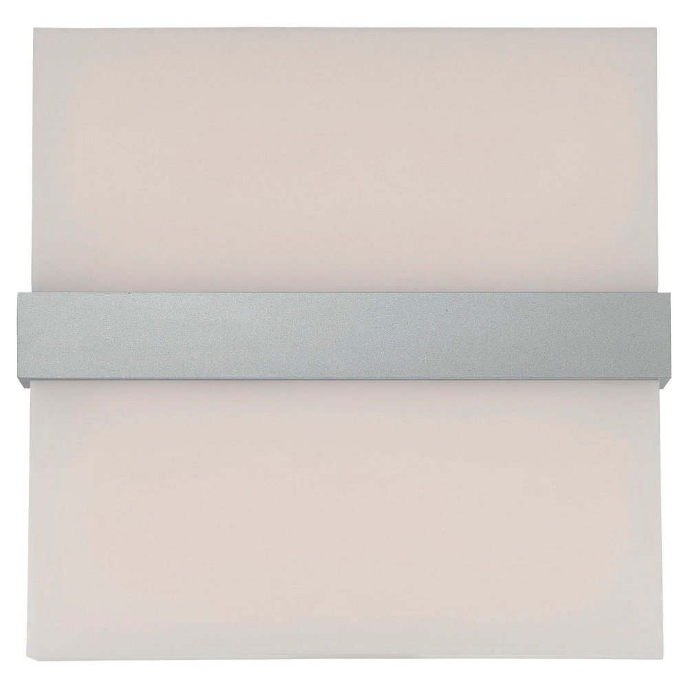 Quentin 1 Light Led Wall Sconce- Silver Finish